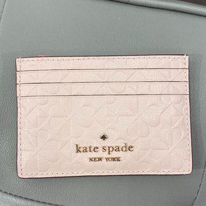 Kate Spade hollie spade clover geo embossed slim c